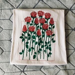 Vintage Red Roses Shirt